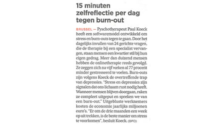 burn out symptomen test
