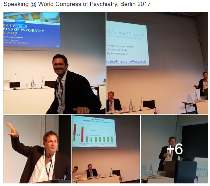 Dr. Paul Koeck, MD speaking @ 17th World Congress of Psychiatry 2017, Berlin